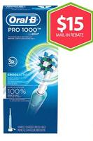 $14.99 Oral-B PC 1000 Electric Toothbrush Pack ($15-Mail-In-Rebate Available)