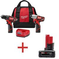 $99 + Free Shipping Milwaukee M12 12-Volt Lithium-Ion Cordless Drill Driver/Impact Driver Combo Kit (2-Tool)