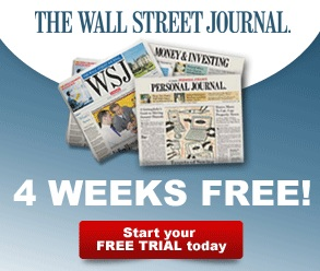 50% Off + 4 Weeks Free The Wall Street Journal and Free 30 Day Trial Market Watch