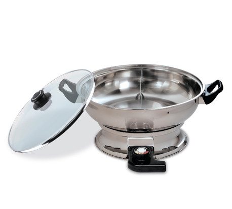 $34.99 Hello Home Shabu Shabu Convection Electric Hotpot (JH-160B) - Double 120V / 60Hz, 1400W