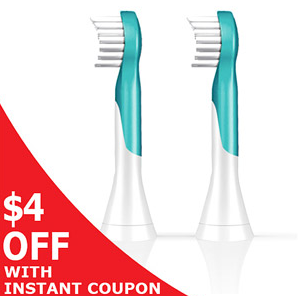 $15.95 Philips Sonicare HX6032/94 Kids ProResults Toothbrush Heads (2 Count)
