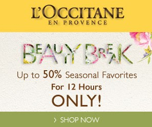 Up to 50% OFF 12 Hour Beauty Break @ L'occitane