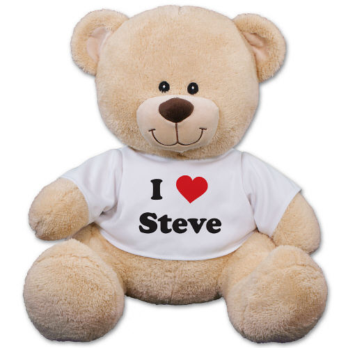 "$14.99 Personalized 11"" I Love You Teddy Bear (Dealmoon Exclusive)"