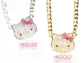 Free Hello Kitty Rhinestone Chain Necklace with orders over $75 @ Sanrio