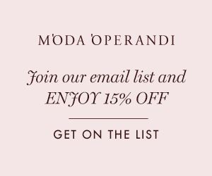 Join Our Email List To Shop Straight From The Runway - Plus Enjoy 15% Off Your Next Purchase