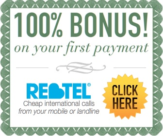 Rebtel Calling Card Buy $10 Get $10  voucher code for making cheap international calls from any mobile phone or landline